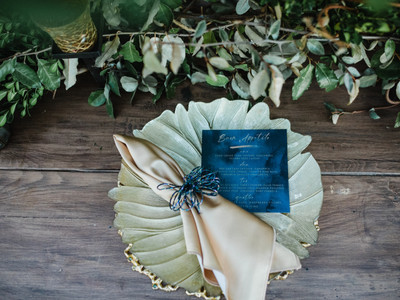 Decoration and Napkin Holders on Plate for Wedding Reception