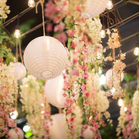 Charming Houston Floral Patio