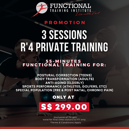 3 Sessions For $299.00
