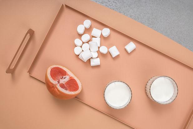 Grapefruit, Marshmallows and Milk