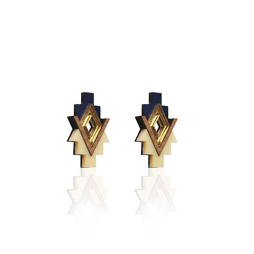 Sipho Earrings - Navy