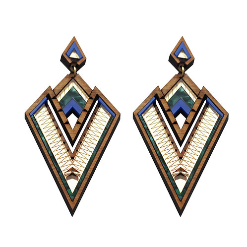 Derin Persian Blue Statement Earring