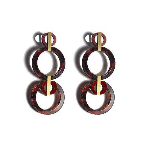 Aura Earrings Tortoiseshell