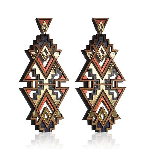 Themba Earrings - Orange