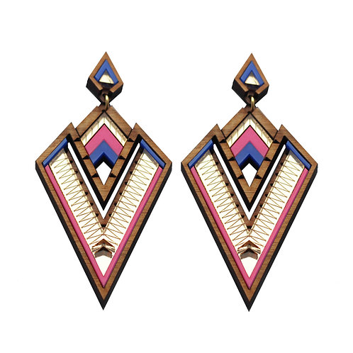 Derin Pink Statement Earring