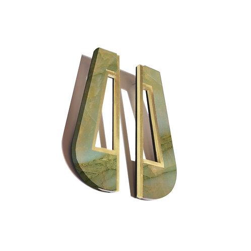 Akua Earrings in Green Marble