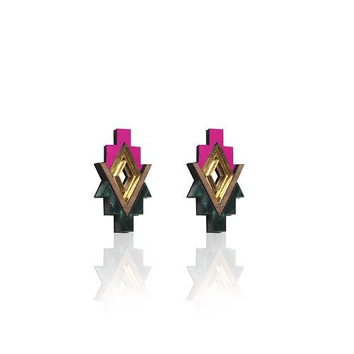 Sipho Earrings - Fuchsia