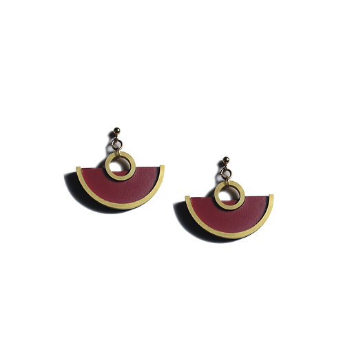 Zera Earrings in Burgundy