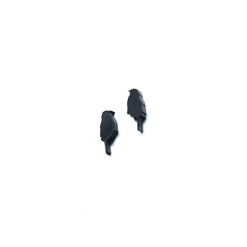 Mini Bird Earrings - Black