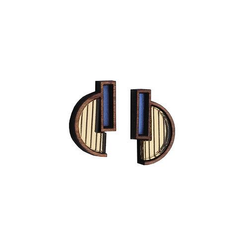 Solana Earrings - Gold + Purple