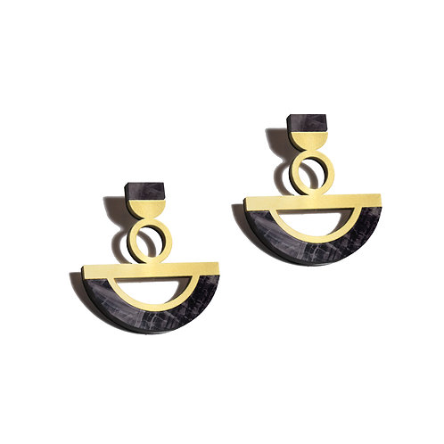 Ife Earrings in Emperado