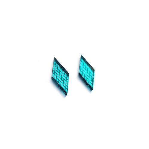Mini Teak Diamond Earrings