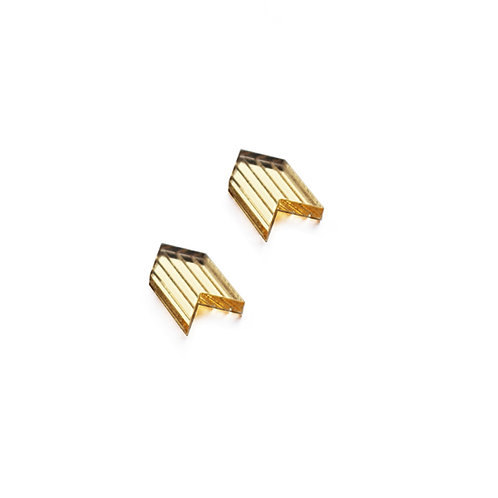Mini Gold Chevron Earrings