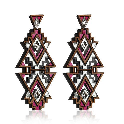 Themba Earrings - Fuchsia