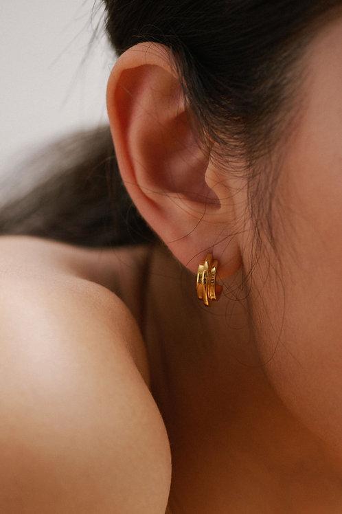 Double Arc Earring