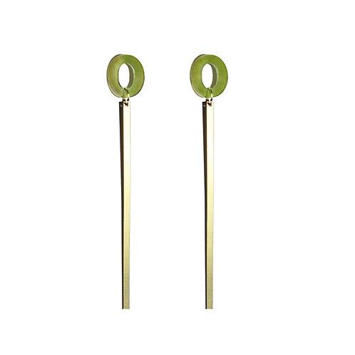 Kiira Earrings in Jade