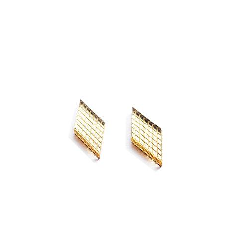 Mini Gold Diamond Earrings