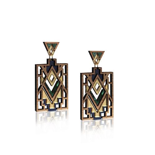 Mandala Earrings - Emerald