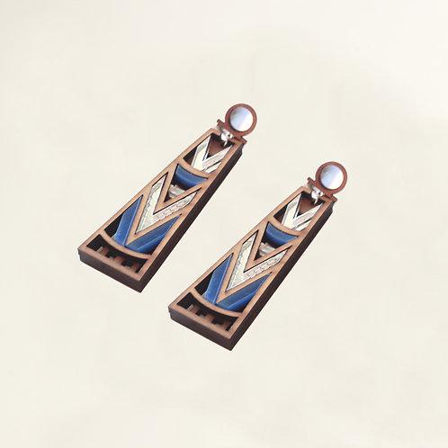 Jiona silver & blue