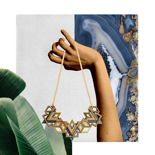 Zenzele Necklace - Emerald