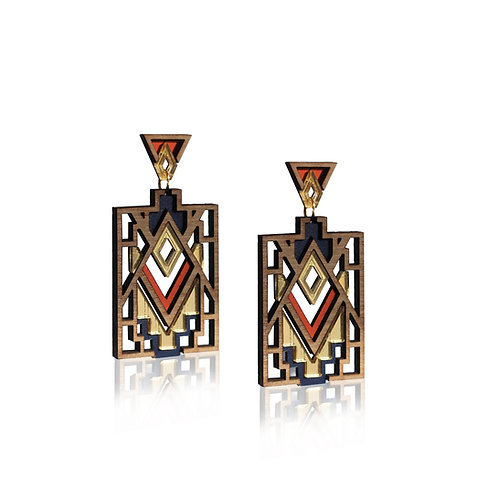 Mandala Earrings - Paprika
