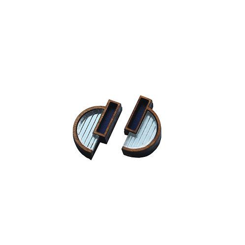 Solana Earrings - Silver + Indigo