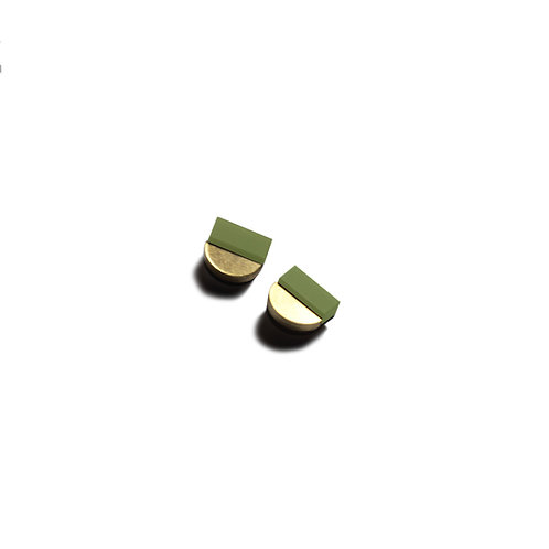 Duni Earrings in Khaki