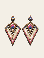 Derin Pink statement Earrings