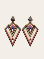 Derin Pink statement Earrings