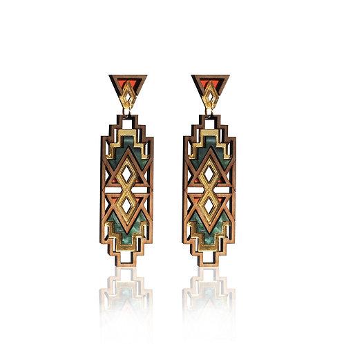 Thandi Earrings - Paprika