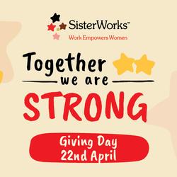 SisterWorks Giving Day Branding