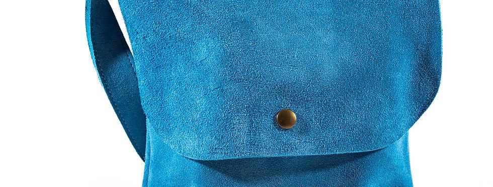 Turquoise Suede Satchel