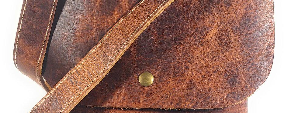 Cognac Leather Satchel