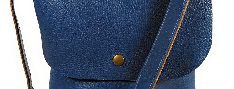 Cobalt Blue Leather Satchel