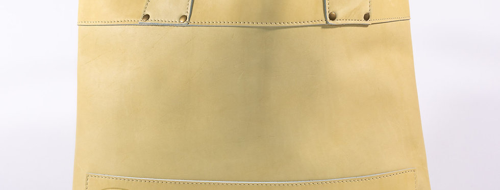 Sesame Leather Tote