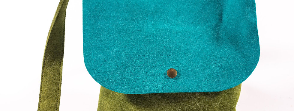 Loden and Teal Satchel