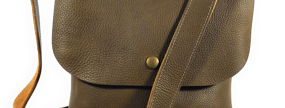 Olive Leather Satchel