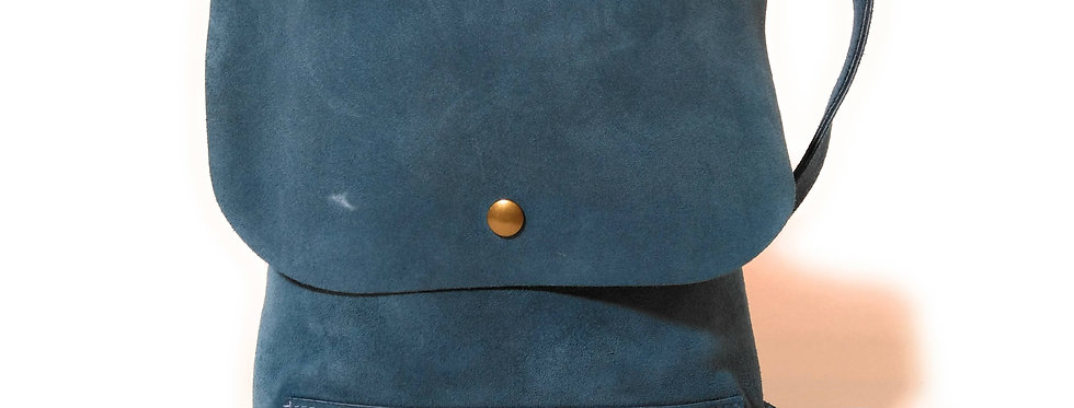Steel Blue Satchel