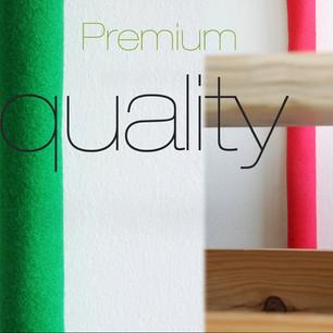 Premium kvalitet af både handværk og materialer