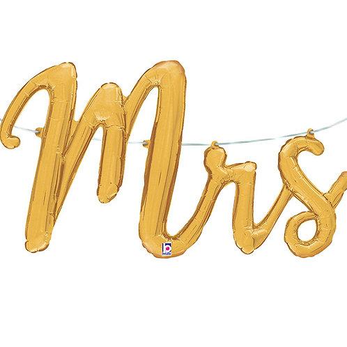 MR & MRS Script Balloons