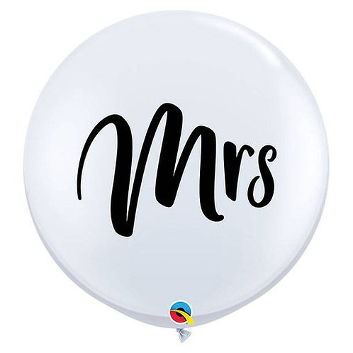 Mr. & Mrs. Jumbo Latex Balloon
