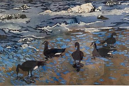 """Geese on Shoal"" by Robert Einhaus"
