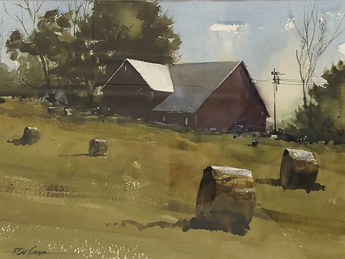 """Bales on the Hillside"" by Tom DeSomer"