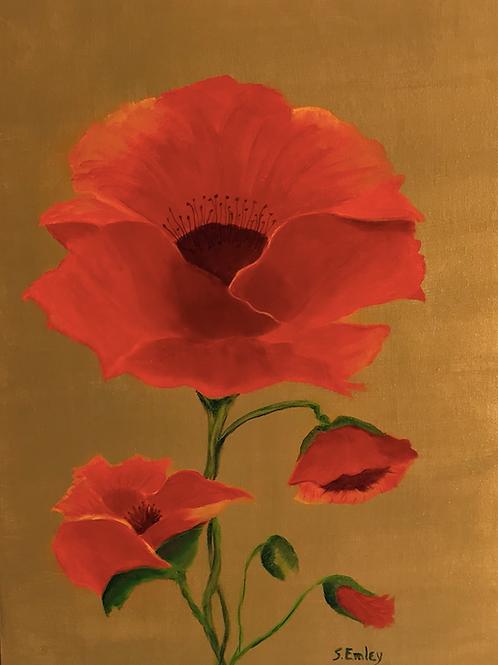 """""""Poppies Aglow"""" by Suzie Emley"""