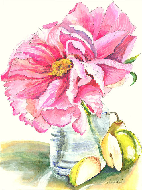 """Peonies and Pears"" by Dani Kiefer"