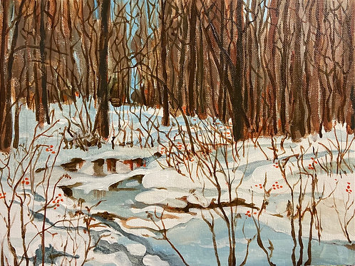 """Sunlit Winter"" by Darlene Selzer-Miller"