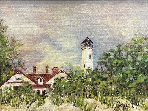 """Point Iroquois Lighthouse, Brimley, Michigan"" by Darlene Selzer-Miller"
