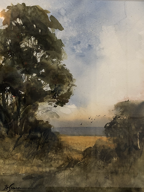 """Two Trees by an Open Field"" by Tom DeSomer"