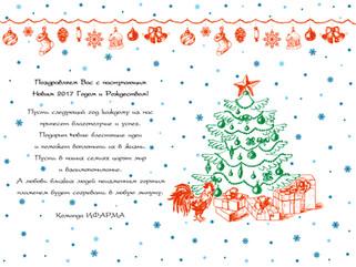 С наступающим Новым 2017 годом и Рождеством!