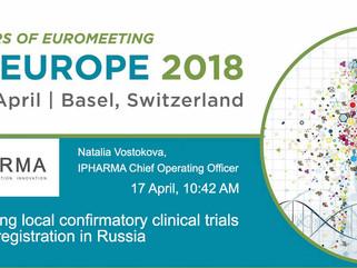 ИФАРМА расскажет о регистрации лекарственных препаратов в России на DIA Europe 2018